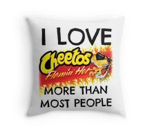 Hot Cheetos Throw Pillow