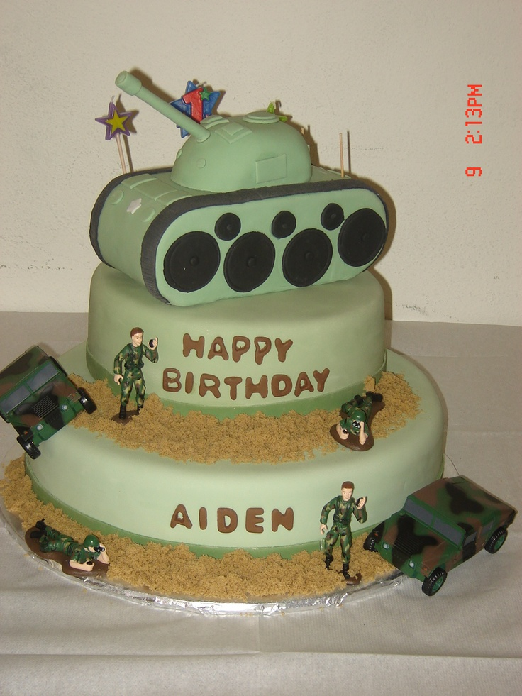 Cake Decorating Ideas Military : 25+ best ideas about Army Birthday Cakes on Pinterest ...