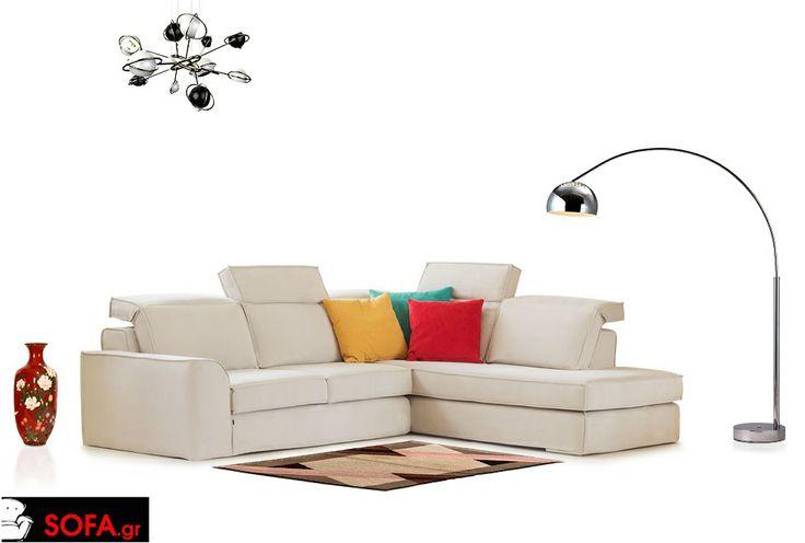 Γωνιακός Καναπές Cool με ανάκλιση και αποσπώμενο ύφασμα  http://sofa.gr/goniakos-kanapes-cool