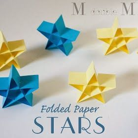 So simple, so beautiful. Stars made of paper by M double M.