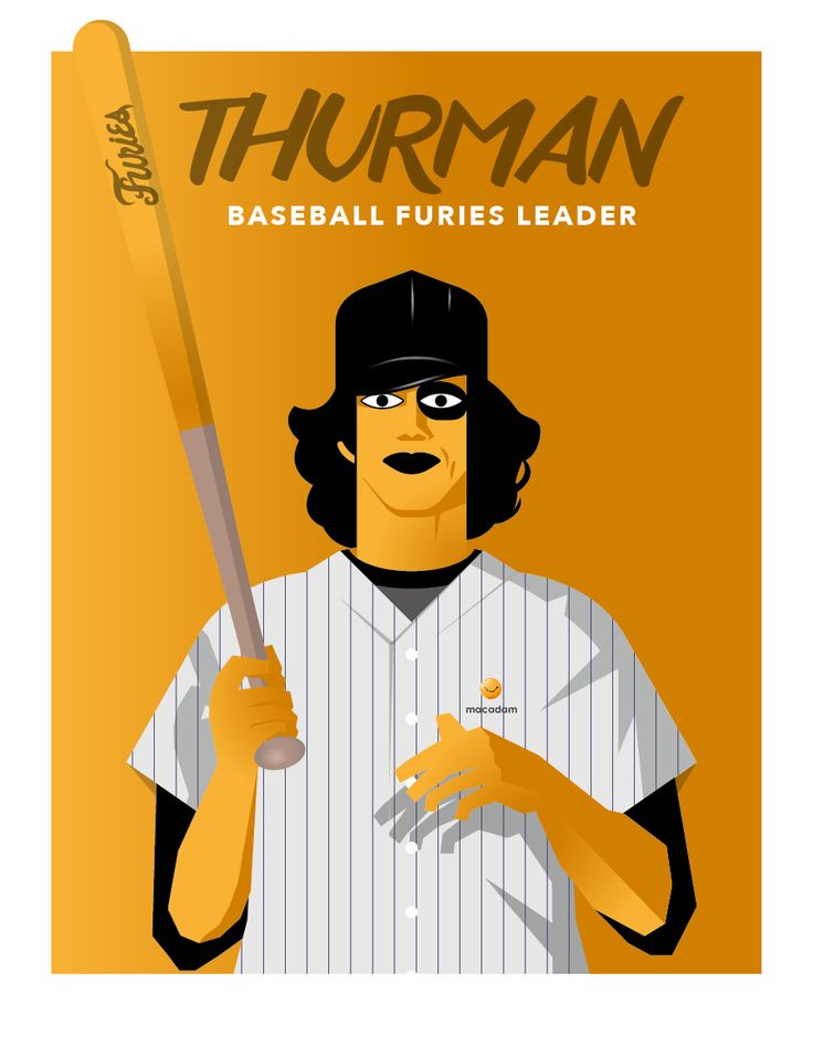 THE WARRIORS MOVIE BASEBALL FURIES GANG by macadam