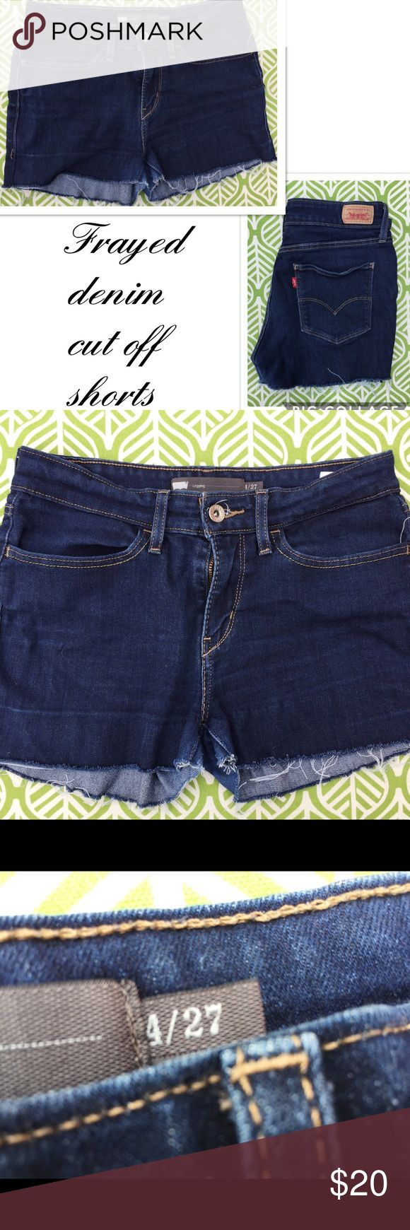 Cut off Levi jean denim shorts. Frayed Daisy dukes Gently worn ✨LIKE NEW✨ comfortable Levi jean denim cut off shorts. Perfect for festival season, warm springs days and hot summer nights☀️ 🌴 Levi's Shorts Jean Shorts