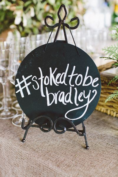 would love these for the food table --- hashtag sign | Jim Trice #wedding