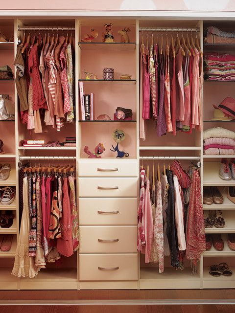 Storage Furniture. a good way to store clothing. split in half to share for two.