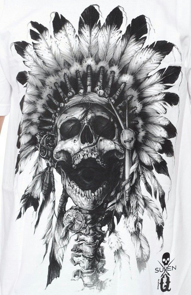 Pin by Mohamed Abdo on T shirts | Indian skull tattoos, Native american tattoos, Indian tattoo ...