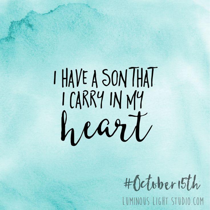 October Pregnancy & Infant Loss Awareness via Luminous Light Studio.com