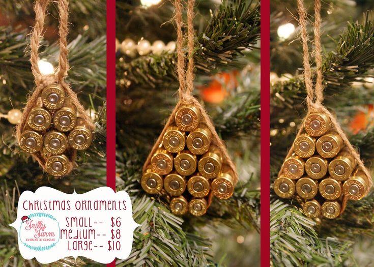 Frilly Farm Designs-- Bullet Casing Tree Ornaments