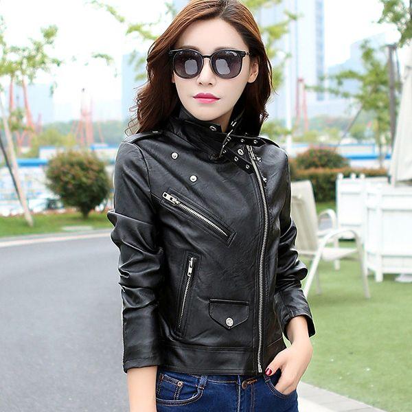 #japon #style bayan deri ceketlere ne dersiniz siyah olursa giymeye kıyamazsınnn :)