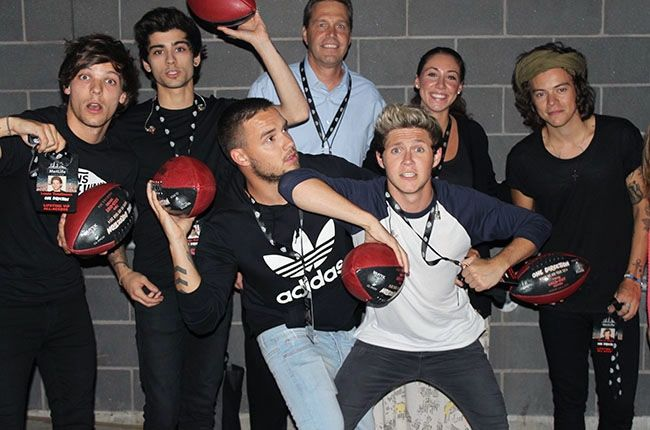The boys backstage in New Jersey