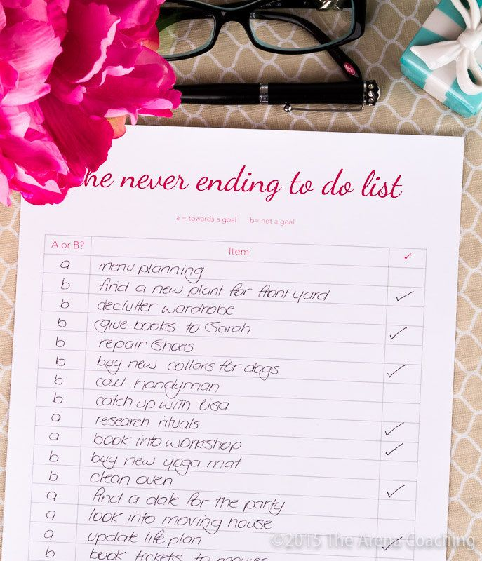 Never Ending To Do List - 2016 Printable by TheArenaCoaching on Etsy