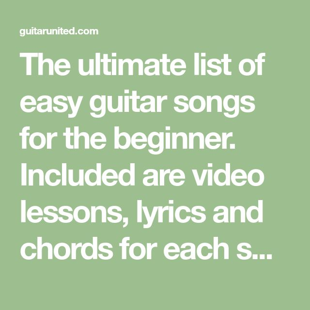 320 Best Easy Guitar Songs Images On Pinterest Guitar Chord Chart
