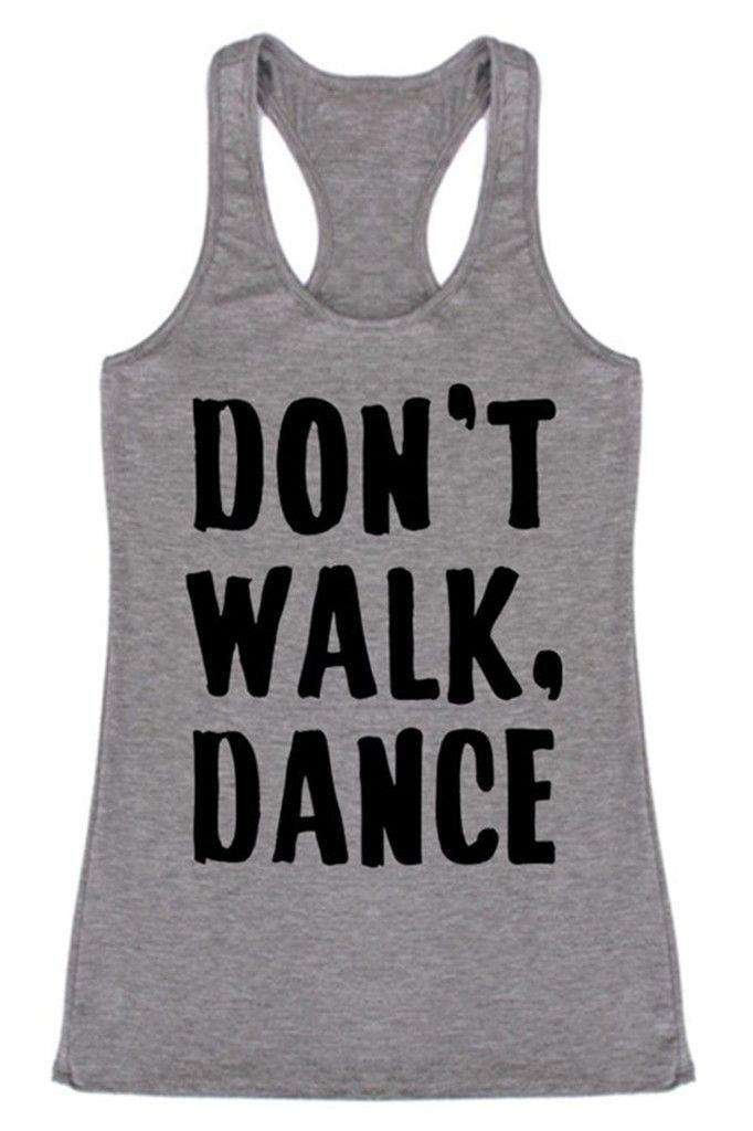 Don't Walk, Dance Racerback Tank Top