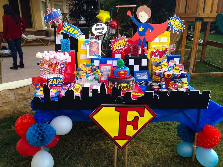 Fouad's Superhero birthday | CatchMyParty.com