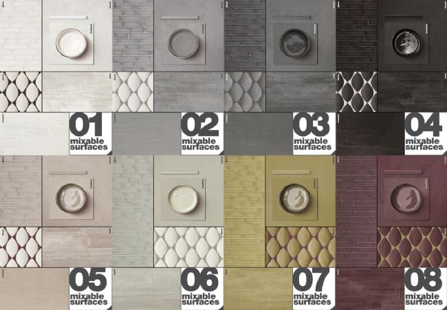 Materia Project by Casamood. Mix able colors and surfaces #Coverings2014