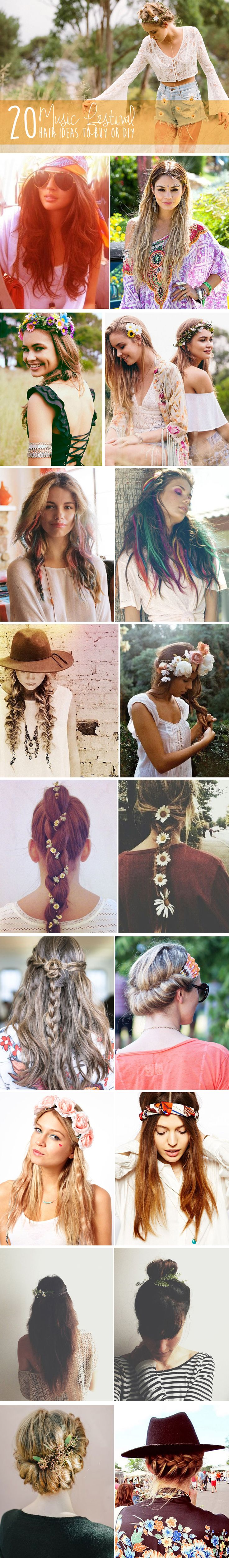 20 summer music festival hair, fashion, and style ideas in boho bohemian gypsy hippie style. For more follow www.pinterest.com/ninayay and stay positively #pinspired #pinspire @ninayay