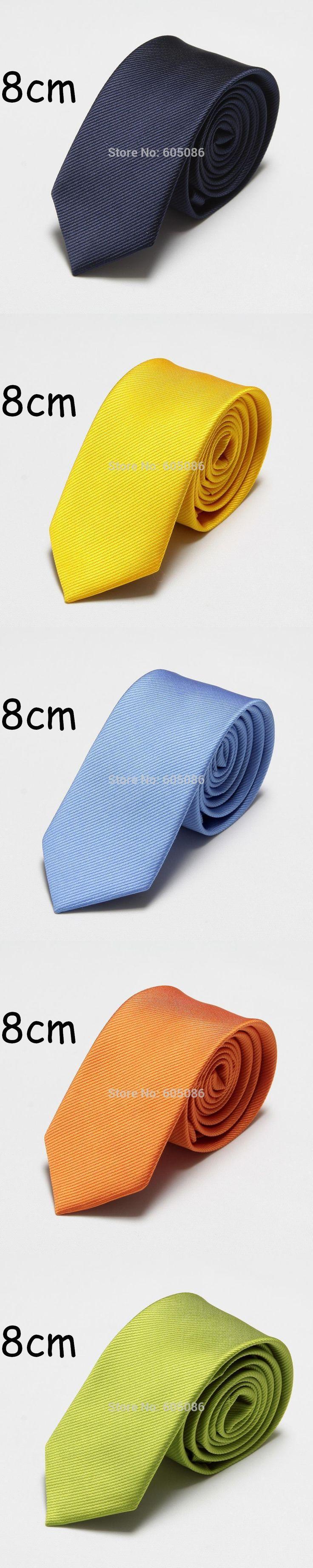 HOOYI 2017 solid polyester fashion men's tie dress neck ties for men cravat 8cm width