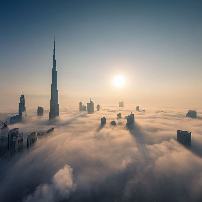 Crown Prince of Dubai Captures His City Above the Clouds