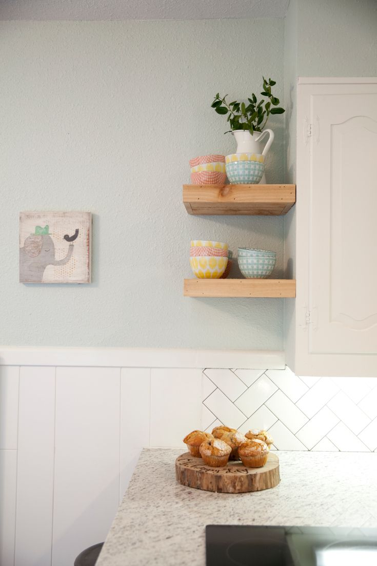Hgtv floating wall shelves woodworking projects plans Floating shelf ideas for kitchen