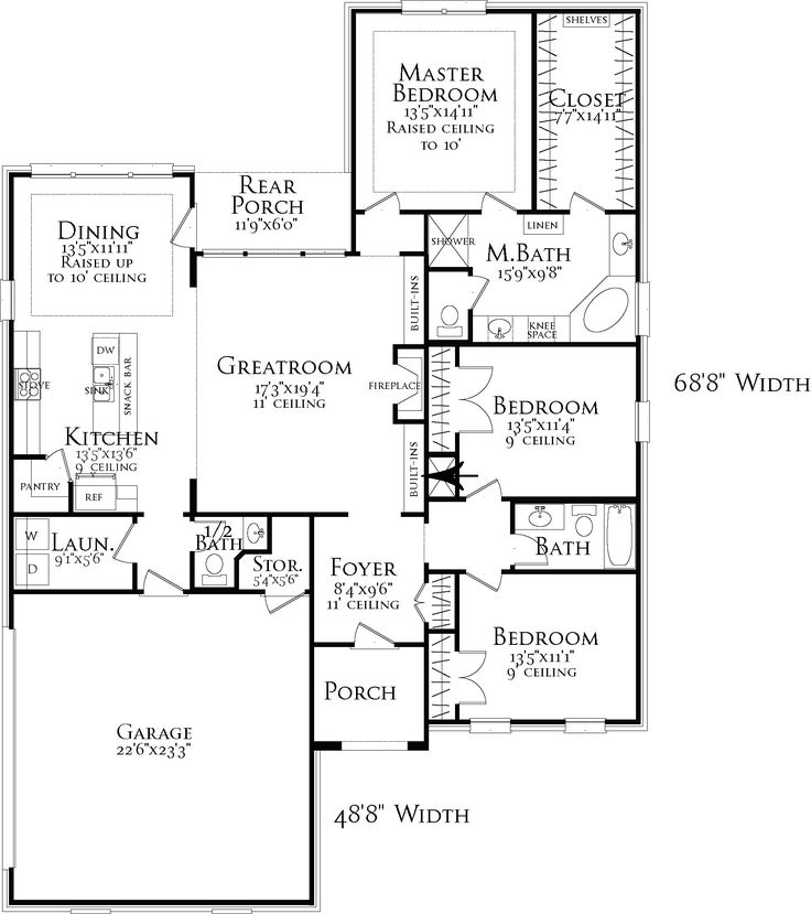 1396 best House Plans images on Pinterest | House floor plans ...
