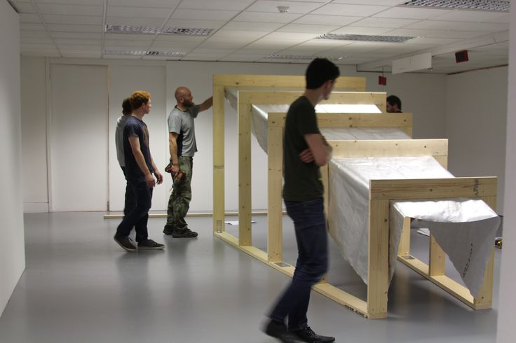 'Hut Building' as event, CCAD exhibition space Sullivan's Quay Campus