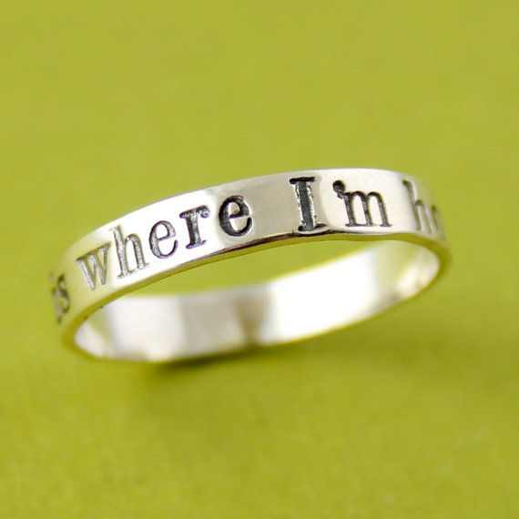 Personalized Single Stacking Ring in Sterling by SpiffingJewelry, $30.00