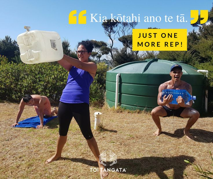 """You don't always need fancy equipment to get a good workout. The kupu o te wiki is 'tāruarua', which means repetition, but you can shorten it to tā. The next time you and your hauora crew are working at it, give them some encouragement and say, """"Kia kōtahi ano te tā"""". Just one more rep! #diyworkout #diywod #barefeet #outdoorworkout #mangawhai #kupuotewiki #wordoftheweek #tereo #māori #toirēhia #earningthatswimafter #weirdneighbours"""