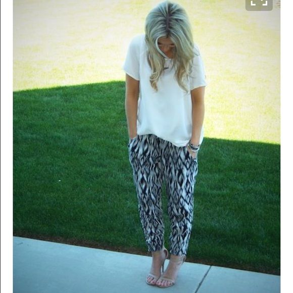Aztec pants Style and comfort are combined!! Elastic waist band for comfort ! Perfect condition! Pants Leggings