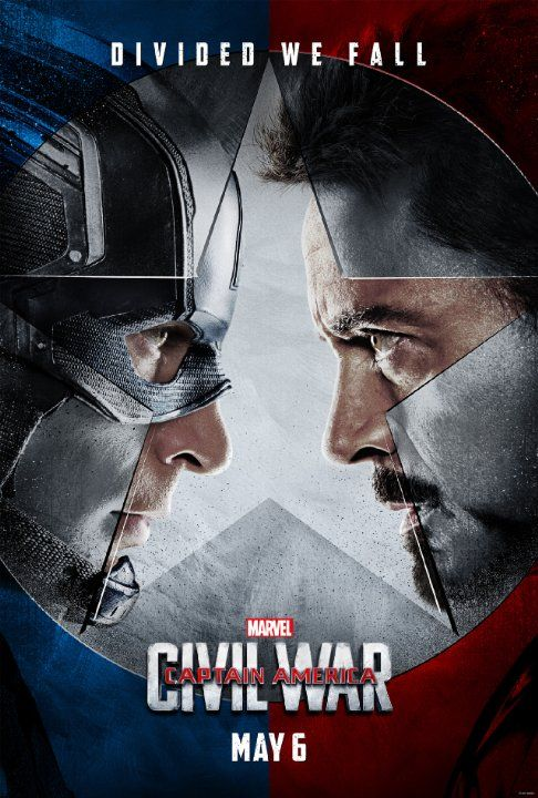 CAPTAIN AMERICA: CIVIL WAR (2016): An incident leads to the Avengers developing a schism over how to deal with situations, which escalates into an open fight between allies Iron Man and Captain America.