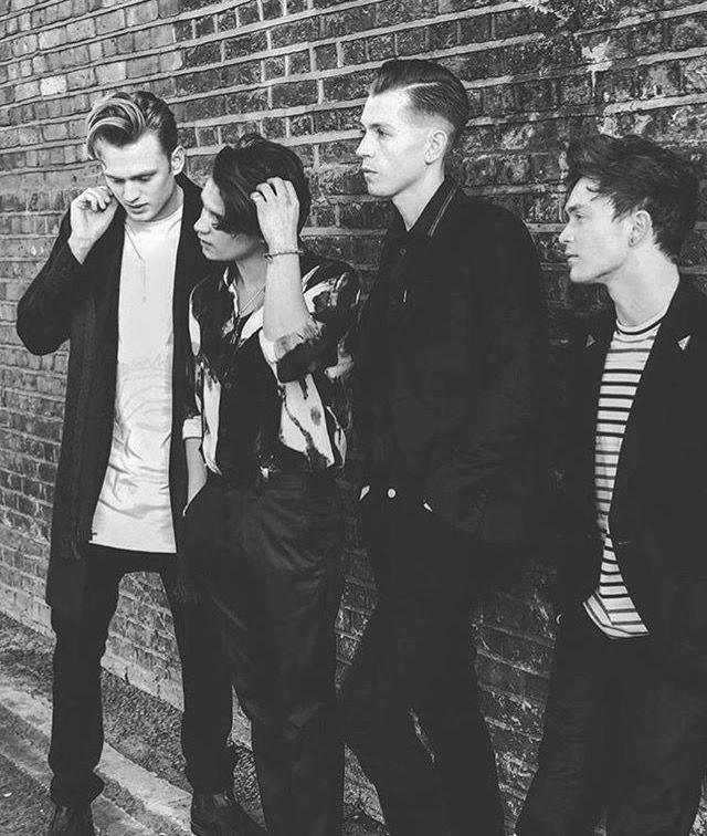 The Vamps in black and white = absolute happiness The Vamps Brad Simpson, James McVey, Connor Ball and Tristan Evans.