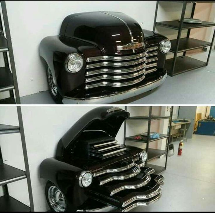 Toolbox from Chevy Advance Design pickup truck