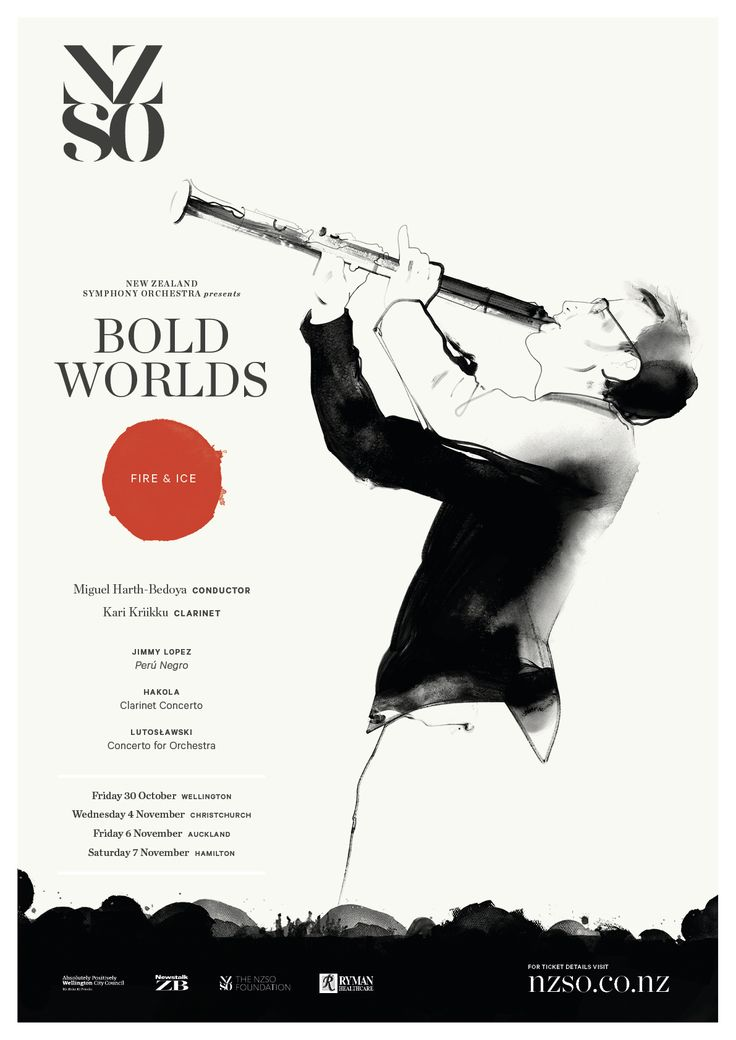 Bold Worlds: Fire & Ice 30 October - 7 November 2015. Cross exciting new musical frontiers with the NZSO's Bold Worlds tour, a celebration of intrepid new steps in classical music. https://www.nzso.co.nz/concerts/concert/bold-worlds-2015/