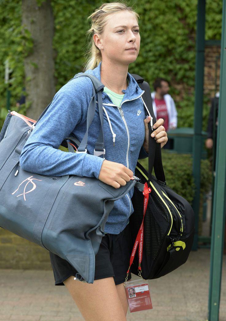 Maria Sharapova Practice session on day three of the Wimbledon Tennis Championships June 26-2013 #WTA #Sharapova #Wimbledon