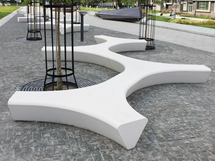 Скамейка «Звезда» | Аданат — современная уличная мебель