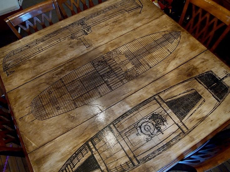 How to: Aged Paper Decoupage DIY Table Refinishing Project @ Vintage Fangirl
