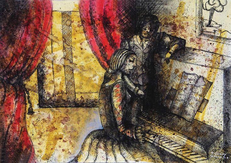 Emma en el piano - Angelo Dulay