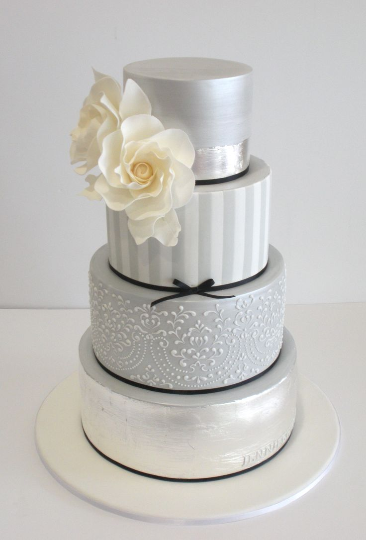 "Faye Cahill Cake Design, silvery ""arcade"" variation"