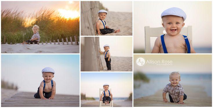 1st birthday beach photo shoot  1st birthday boy  Allison Rose Photography