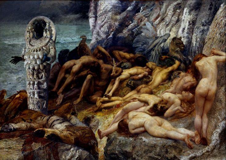 Giulio Aristide Sartorio Diana of Ephesus and the slaves - Category:Paintings of Artemis - Wikimedia Commons