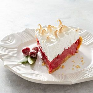 Cranberry Meringue Pie by eatingwell : Easy, festive and yummy! #Pie #Cranberry_Meringue #Healthy