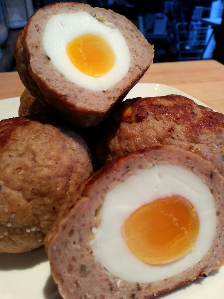 Slimming World Delights: Scotch Eggs make the sausage meat yourself with 5% fat pork mince and spices for syn free.