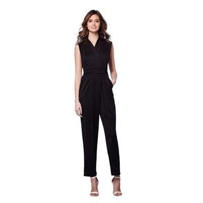 Yumi Black lace back occasion jumpsuit | Debenhams