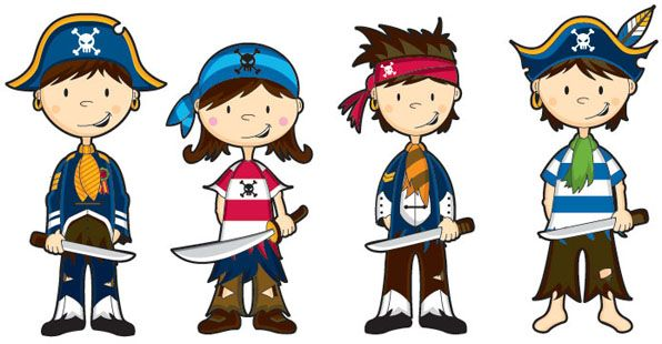 Maestra de Infantil: Piratas. Dibujos para colorear. Caretas, gifs animados, objetos piratas.