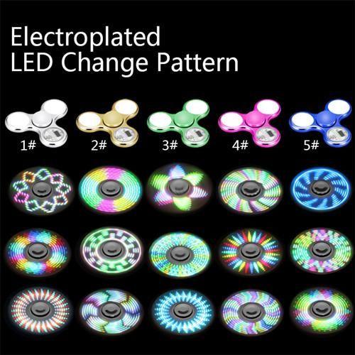 Other Games 234: 20 X Lot Wholesale Led Light Fidget Spinner Lights Change Patterns Tri Metallic -> BUY IT NOW ONLY: $49.99 on eBay!