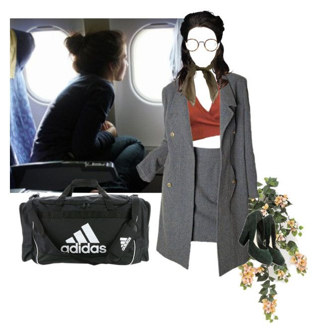 """""""I'm on business."""" by sarcasmo ❤ liked on Polyvore featuring Karl Lagerfeld, Nicole Farhi, Thom Browne and adidas"""