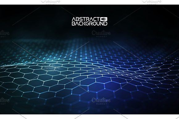 Futuristic hexagon vector illustration. Futuristic hexagon vector illustration. HUD element. Technology concept. 3d landscape. Big data. #background