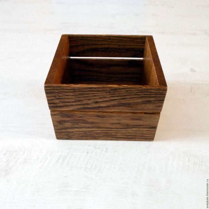 Купить Деревянная салфетница из дуба - деревянные заготовки, кухонный интерьер, заготовки из дерева, салфетница