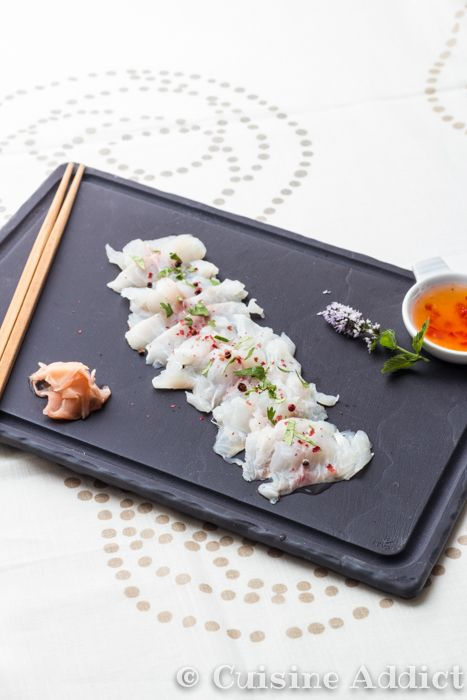 Sashimi de Daurade ♦ Sauce Thaï - Cuisine Addict