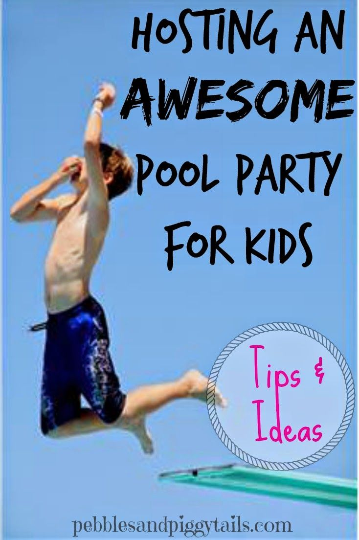 How to Host a Kids Pool Party from pebblesandpiggytails.com.  Tips and fun food ideas for a swim or water party for children.