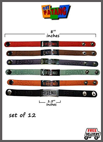 Get Fatang Friendship Day - Leather Friendship Band (Pack of 12 Bands) Get Fatang http://www.amazon.in/dp/B00M41MAG0/ref=cm_sw_r_pi_dp_Kyq3tb1667N2TC7M