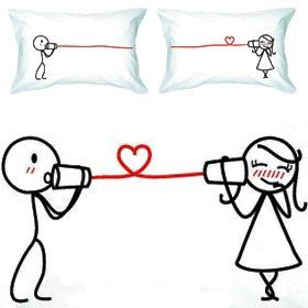 "fundas de almohadas lindas para pareja -  ""Say I Love You"" Couple Pillowcases-romantic Valentines Gifts for Couples"
